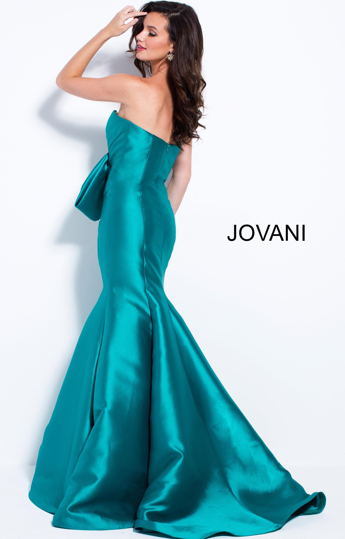 Jovani 51662 - Satin Strapless Mermaid Prom Dress