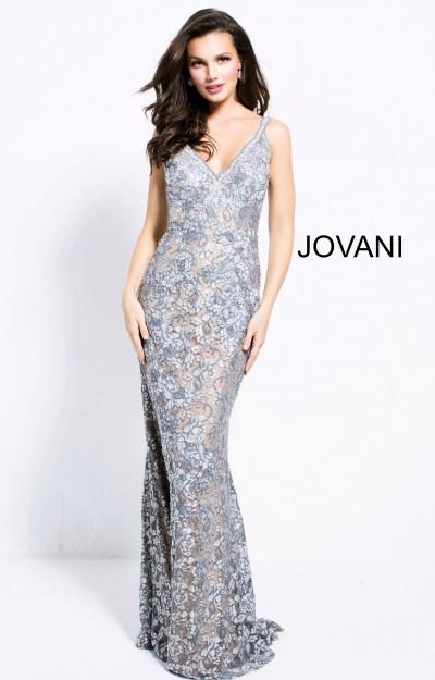 9659f867d85 Jovani 53811. V-Neckline Long Lace Dress  530.00