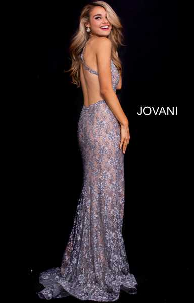 Jovani 54853 Has Straps and V-Shape picture 1