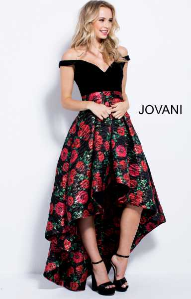 Jovani 55057 Off The Shoulder, Sweetheart and Has Straps picture 1