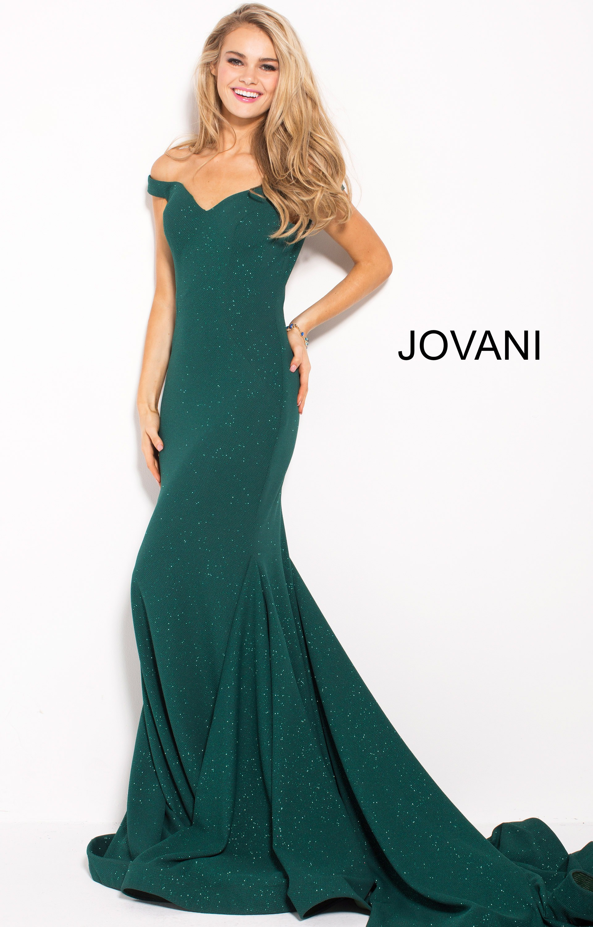 39914a66 Jovani 55187 - Fitted Glittery Dress with Sweetheart Neckline and Off the  Sholders