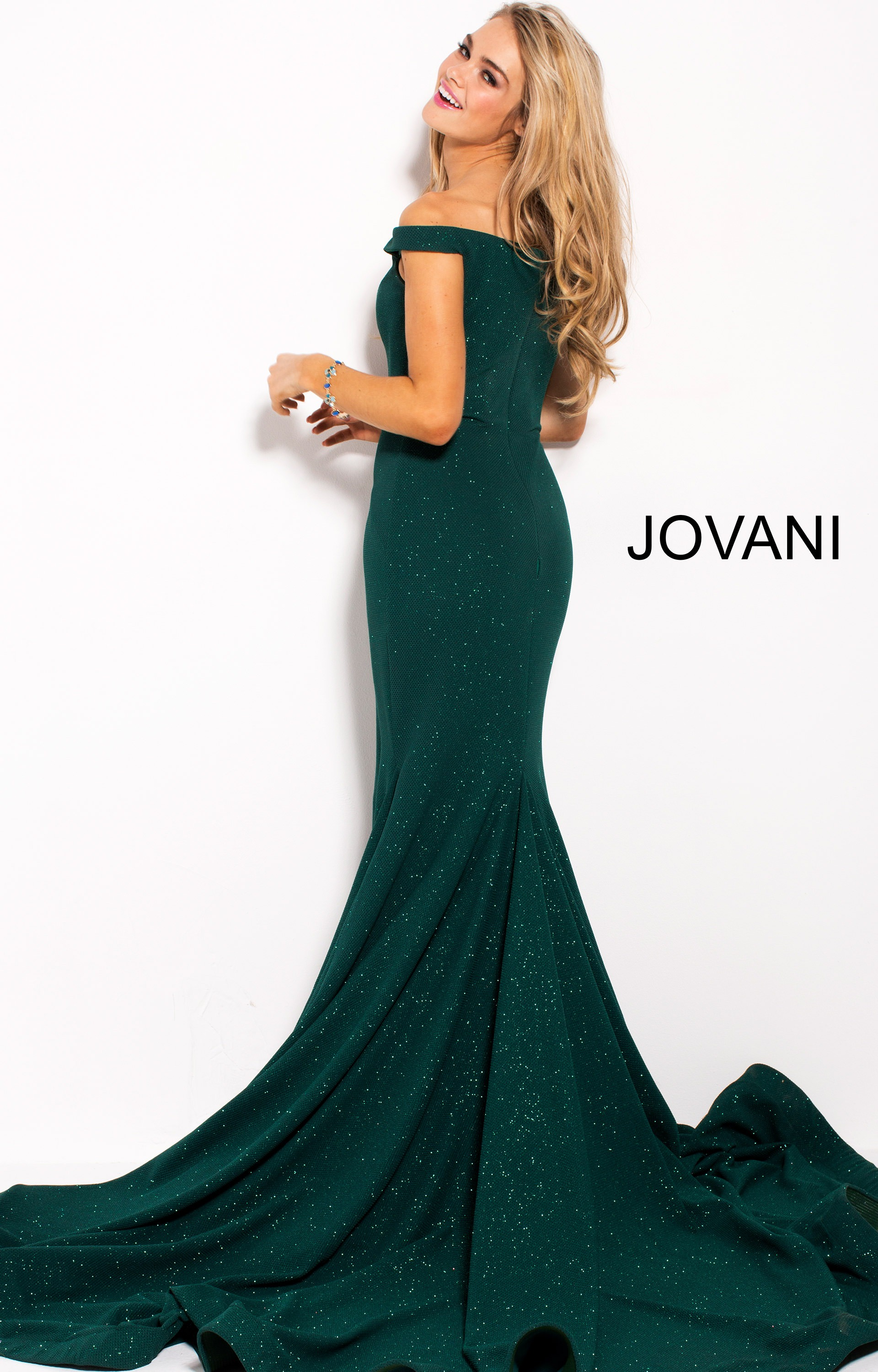 Jovani 55187 Fitted Glittery Dress With Sweetheart