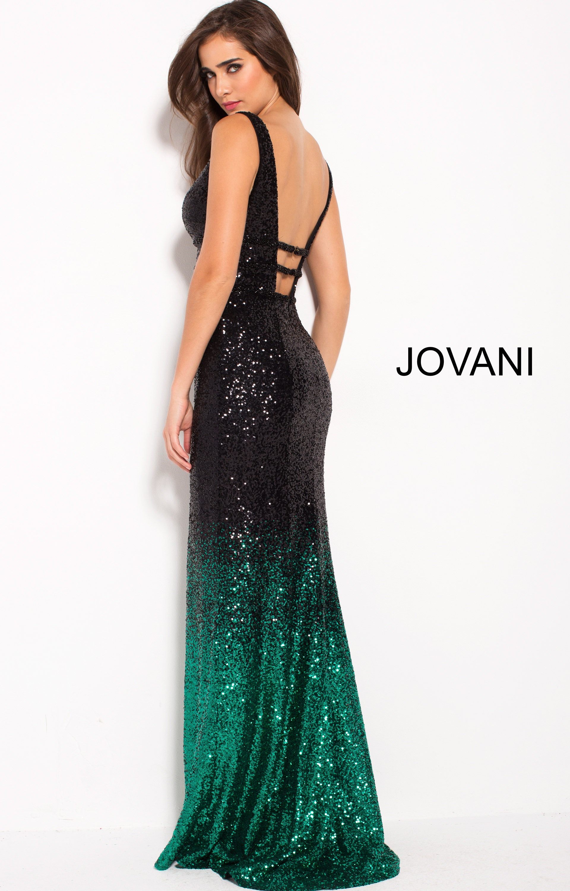 Jovani 56015 Sexy Ombre Sequin Long Evening Dress Prom Dress