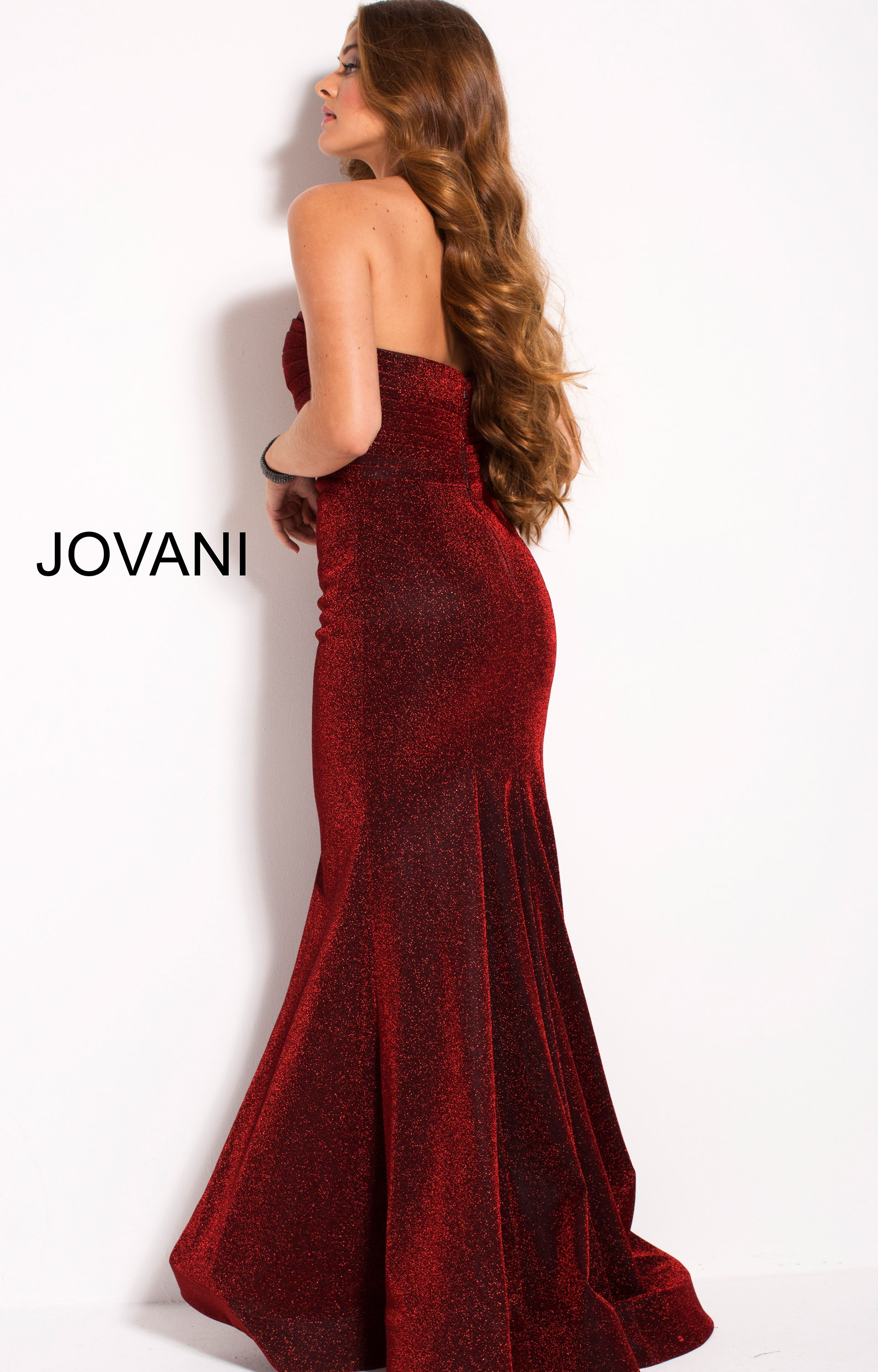 979cd2a846b4 ... Jovani 56063 Fitted picture 2 · Jovani 56063 Long picture 3 · Jovani  56063. Strapless Sweetheart Neckline Shimmering Mermaid Dress