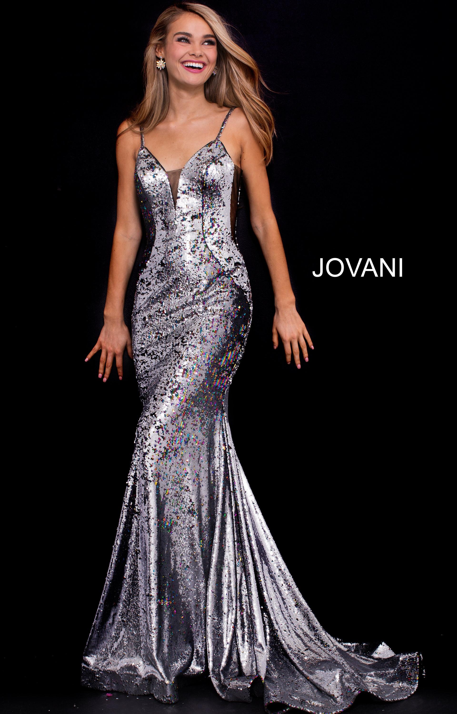 affcd1d972 Jovani 56897 - V-Neckline Mermaid Velvet Dress