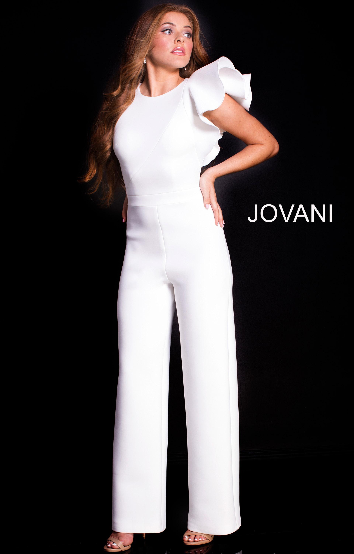 Jovani 57239 Sleeveless Long Jump Suit Prom Dress