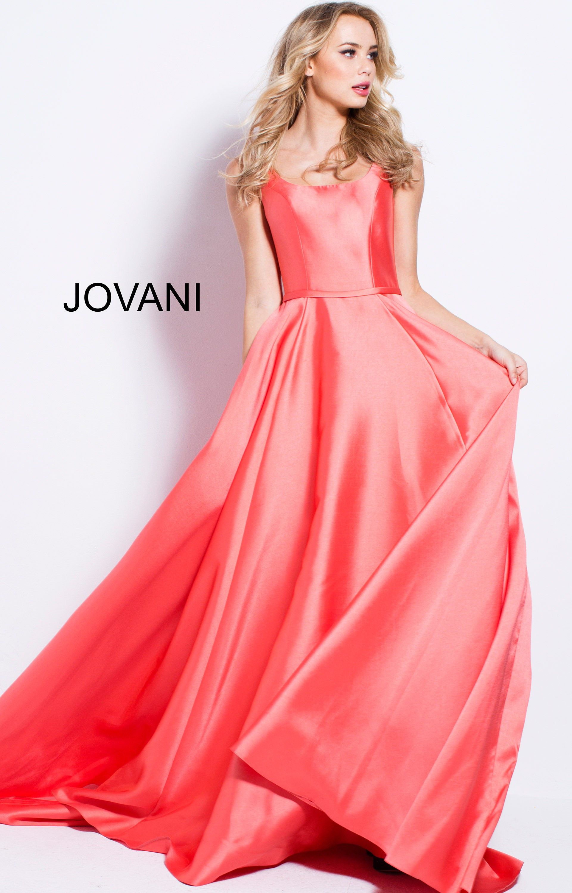 Jovani 57452 - Simple A Line Ball Gown Prom Dress