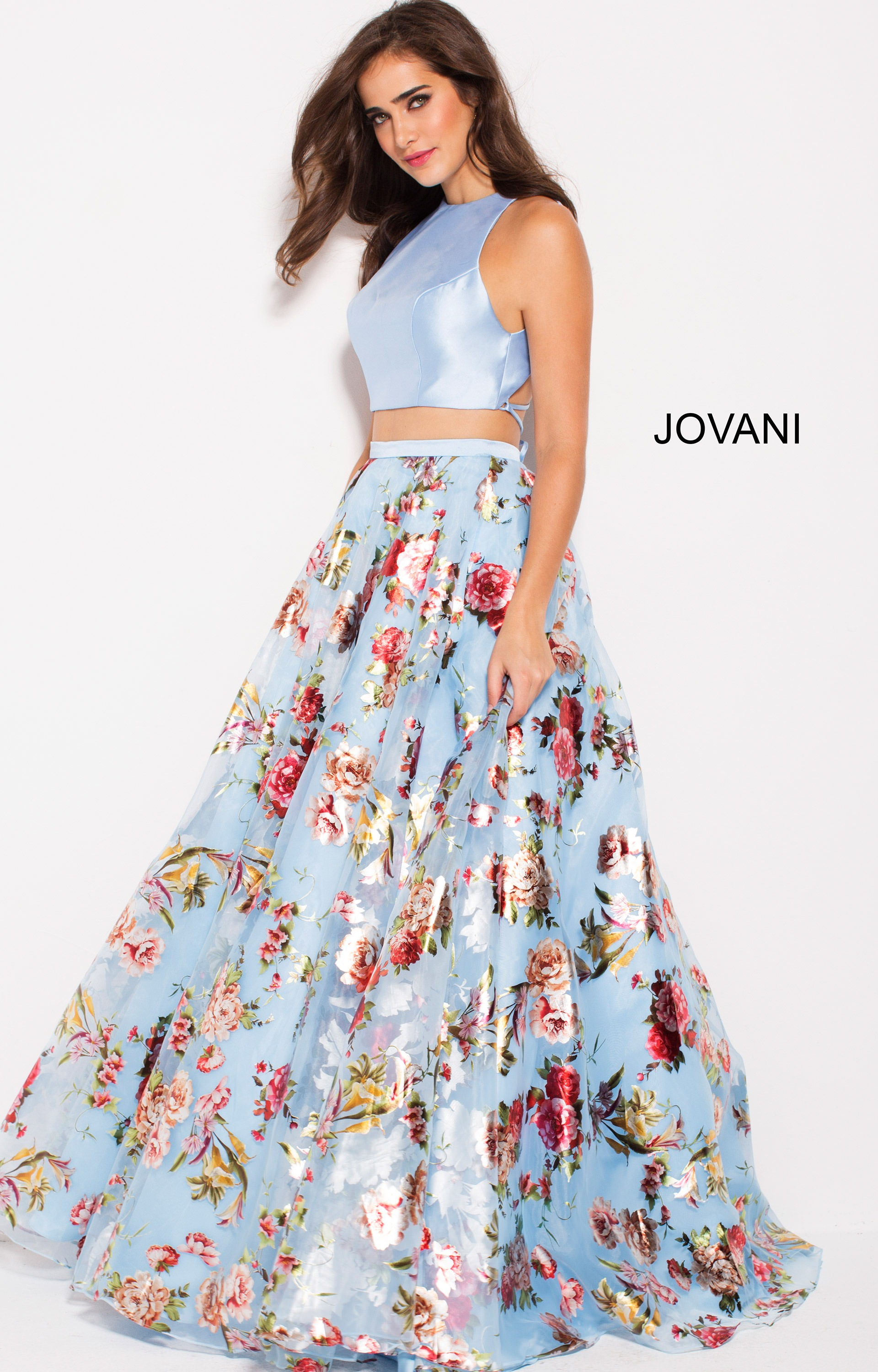 da092a4bbf92 Jovani 60570 - High Neckline 2 Piece Open Back Ball Gown Dress