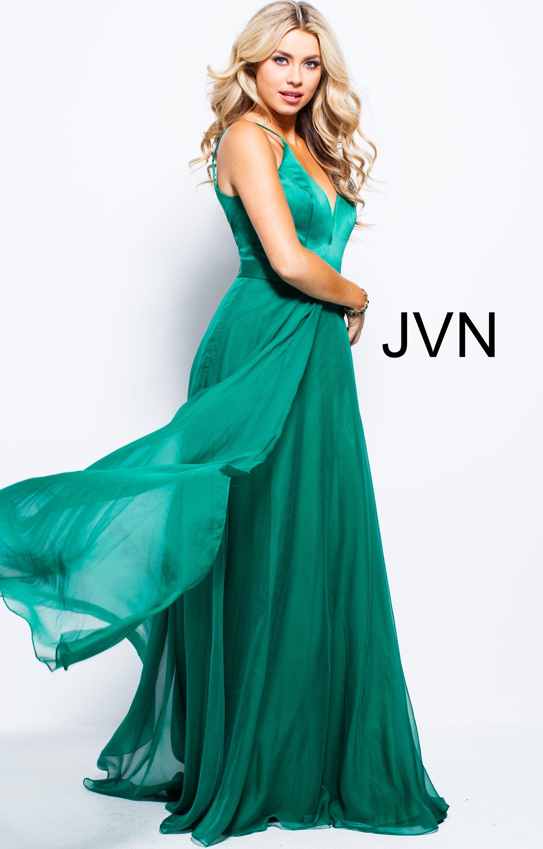 Jovani jvn51181 - Sweetheart Neckline Chiffon Satin Dress