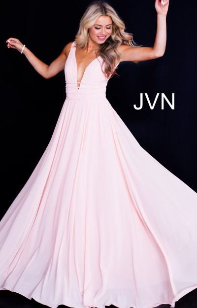 c9e19379171 Jovani jvn52179. Deep V-Neck Sleeveless Open Back Long Dress  338.00