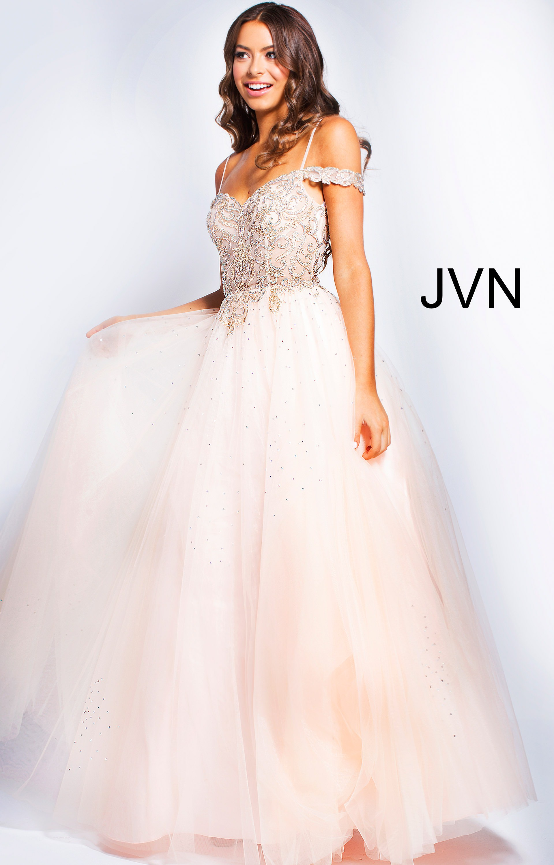 89f68f8bc42b Jovani jvn58403 - Long Tulle Ball Gown