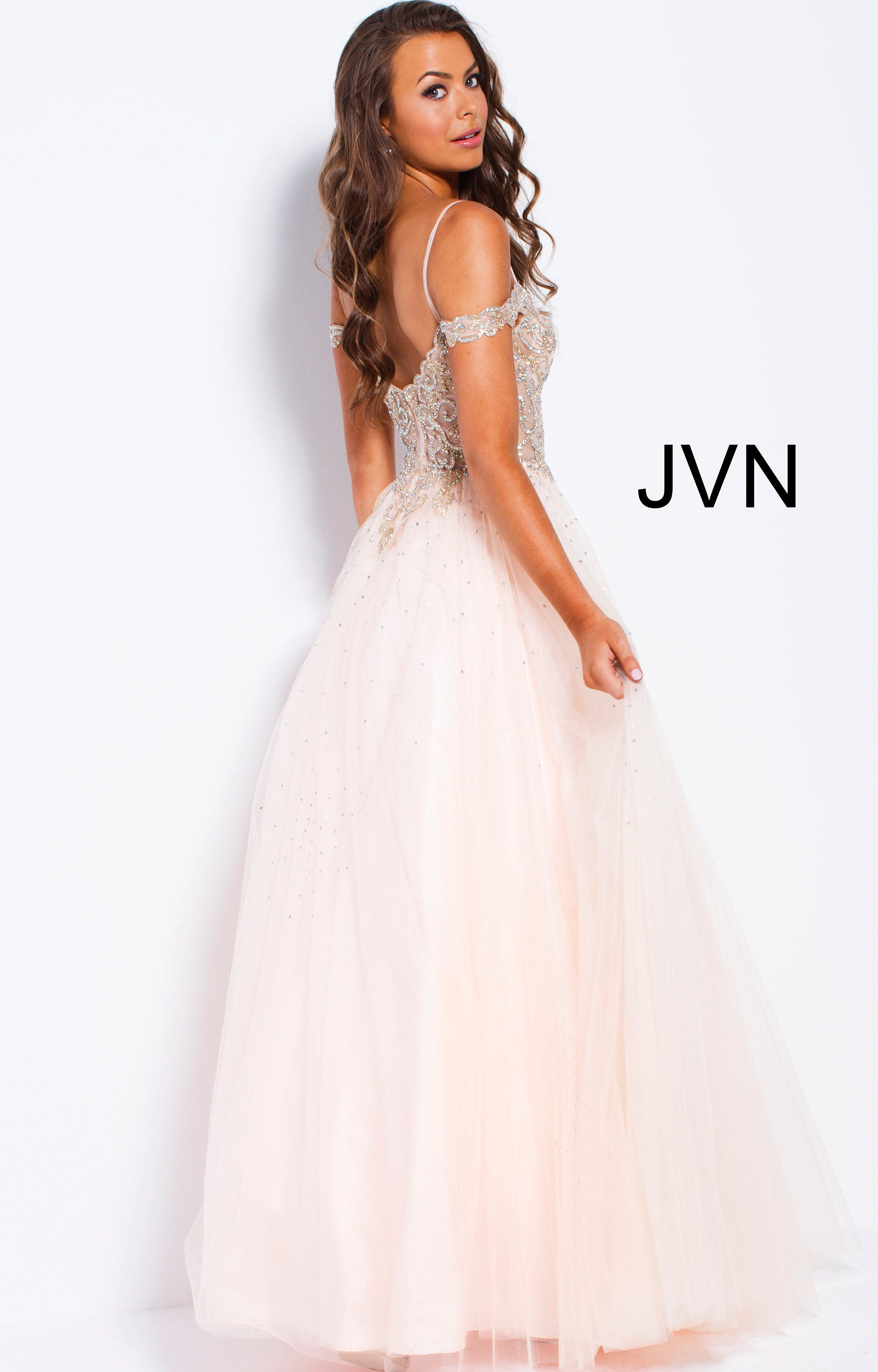 Jovani jvn58403 - Long Tulle Ball Gown Prom Dress
