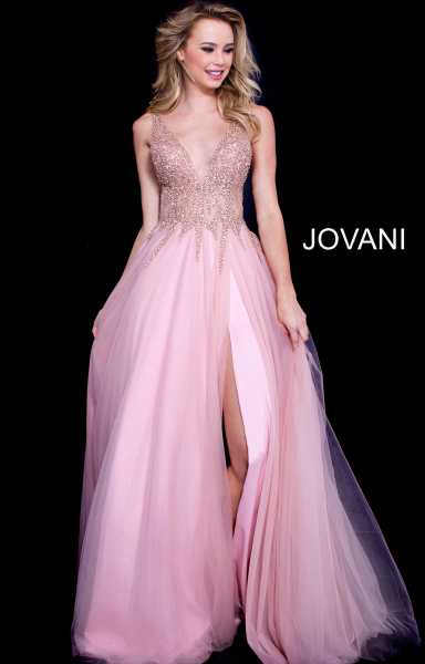 Jovani 54873 Has Straps and V-Shape picture 1