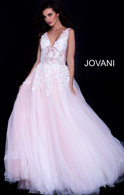9487c9ceef V-Neckline Lace sheer Bodice Tulle Ball Gown  640.00