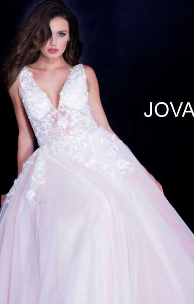 Jovani 55634 Has Straps and V-Shape picture 1