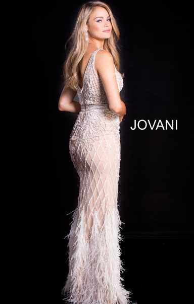 Jovani 55796 Has Straps and V-Shape picture 1