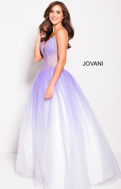 V-Neckline Sleeveless Ball Gown