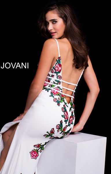 Jovani 61150 Has Straps and V-Shape picture 1