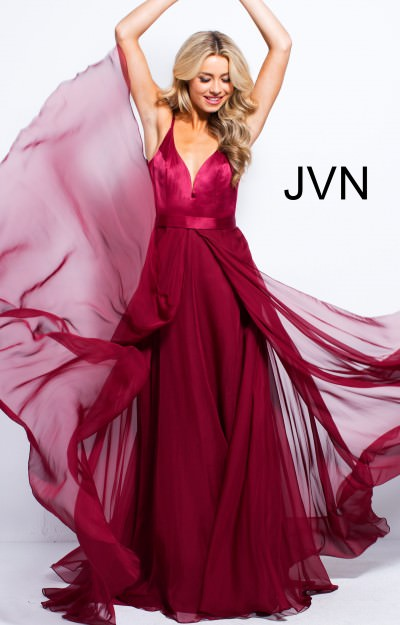 Sweetheart Neckline Chiffon Satin Dress