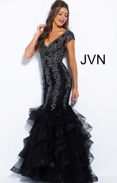 Jovani jvn55878 Has Straps and V-Shape picture 1