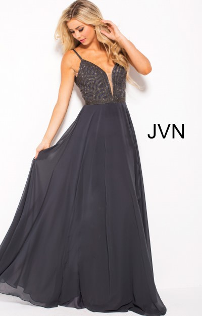 V-neckline A-line Dress