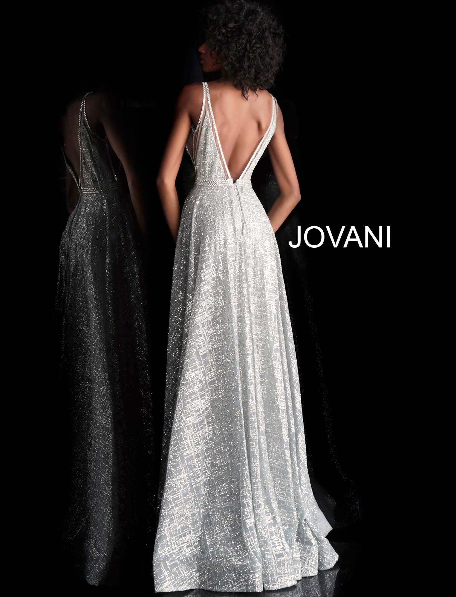 4b4650b4 Jovani 62515 picture 1 · Jovani 62515 picture 2 · Jovani 62515. Glittery  Deep V-Neck ...
