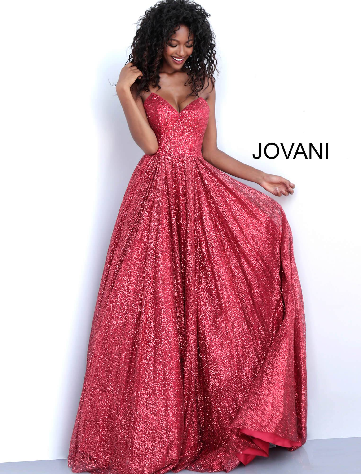 3f4905cd Jovani 66920 - Sweetheart Neckline Strapless Glitter Ball Gown Dress