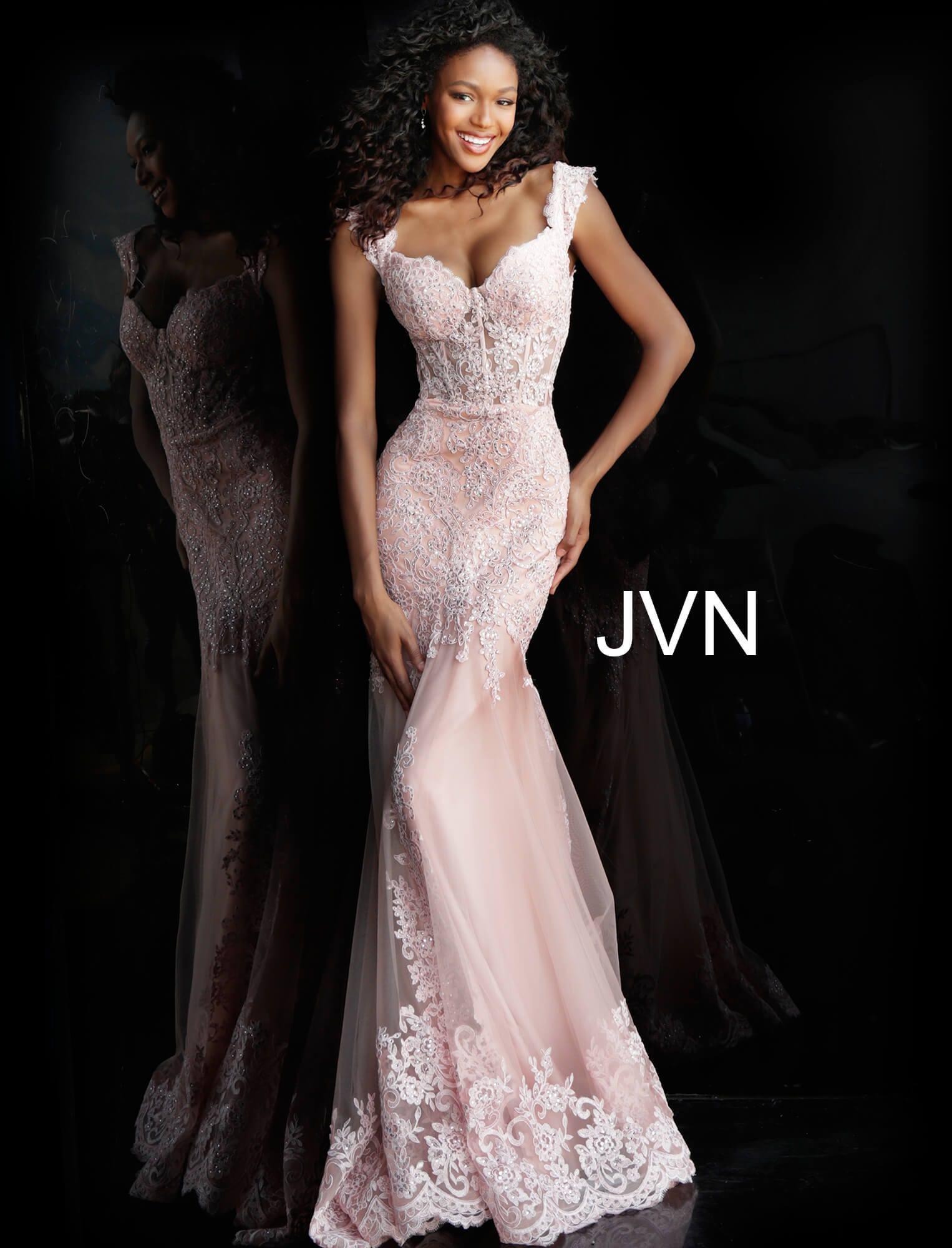 378d4c5c74cd1 Jovani jvn65688 - Long Fitted Lace Dress