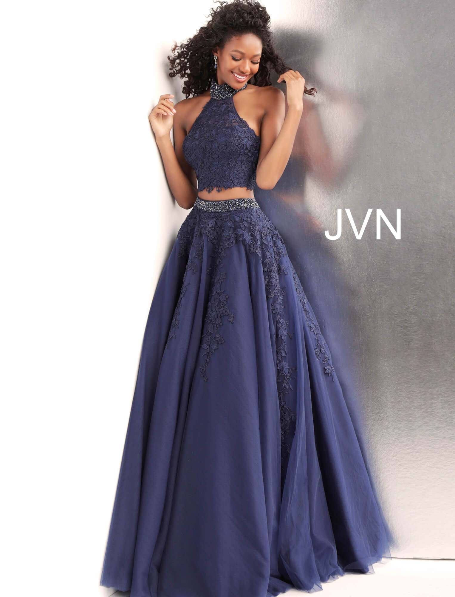 35caa0e8a0f3 Jovani jvn68259 - High Neckline 2 Piece Ball Gown Dress
