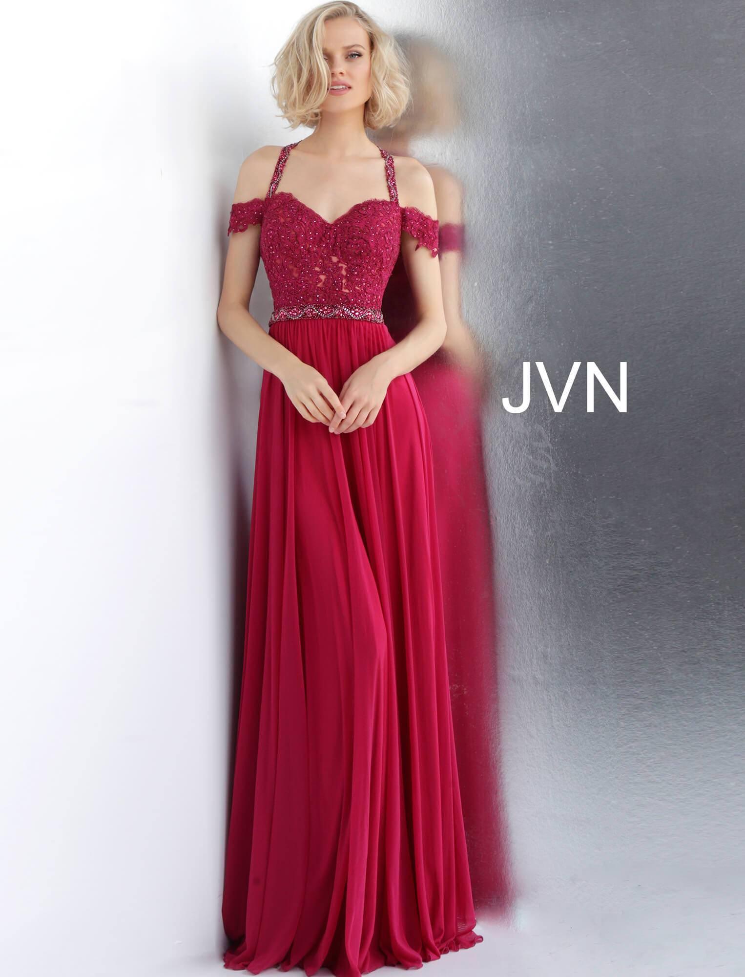 72ab6d937064 Jovani jvn68269 - Off the Shoulder Long Flowing Chiffon Dress