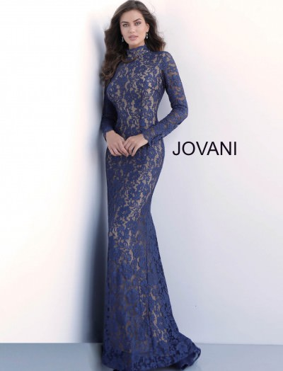 28280d4f691 Jovani 63209. High Neckline Lace Sleeved Gown  550.00