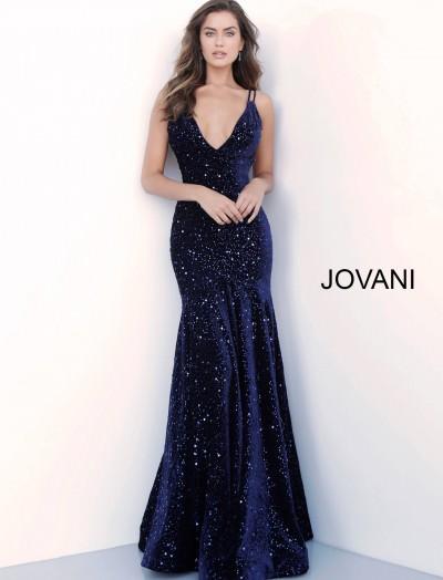 a8336a481b44 V-Neckline Sequin Mermaid Velvet Dress $640.00