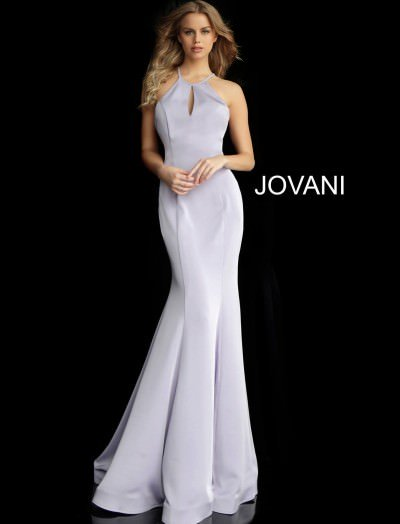 d4bd7769bad5c High Neckline Open Back Simple Mermaid Dress $460.00