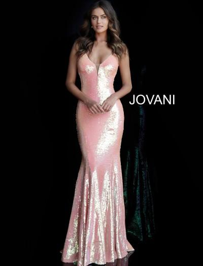 98f09573235 V-neckline Open Back Sequin Shimmering Mermaid Dress  590.00