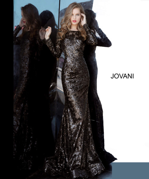 Jovani 55535 High Neck picture 1