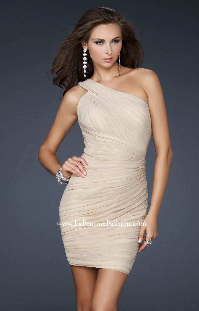 Final, La femme one shoulder dress similar situation