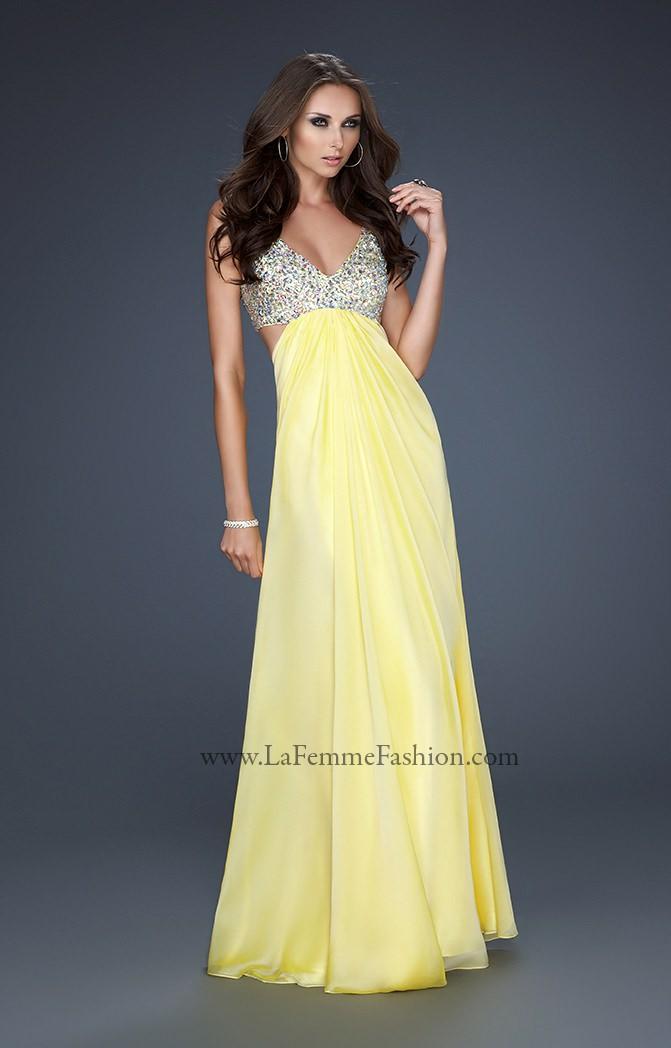 La Femme 17472 Sexy Cut Outs Prom Dress