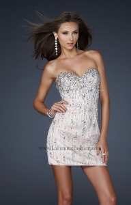 La Femme 17681 Strapless and Sweetheart picture 1