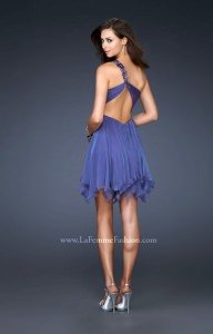 La Femme 16903 One Shoulder and Sweetheart picture 1