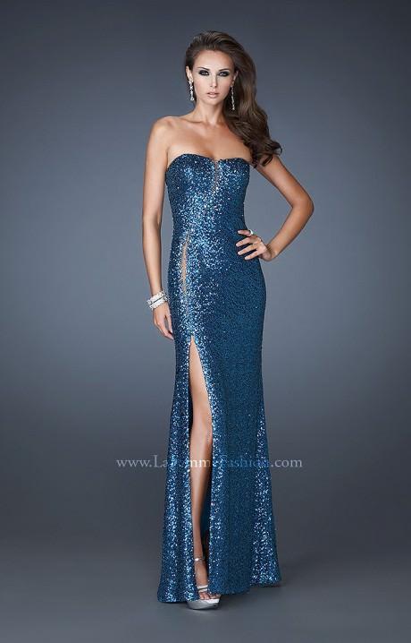 La Femme 18305 - Glitzy Ritzy Prom Dress