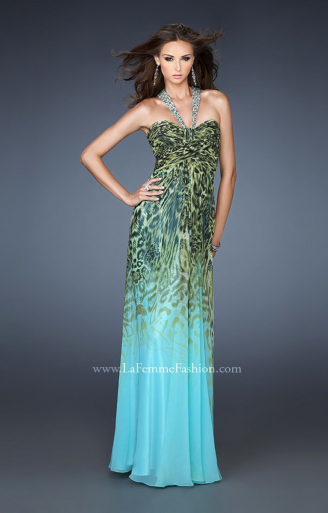La Femme 18436 - Eye of the Tiger Prom Dress