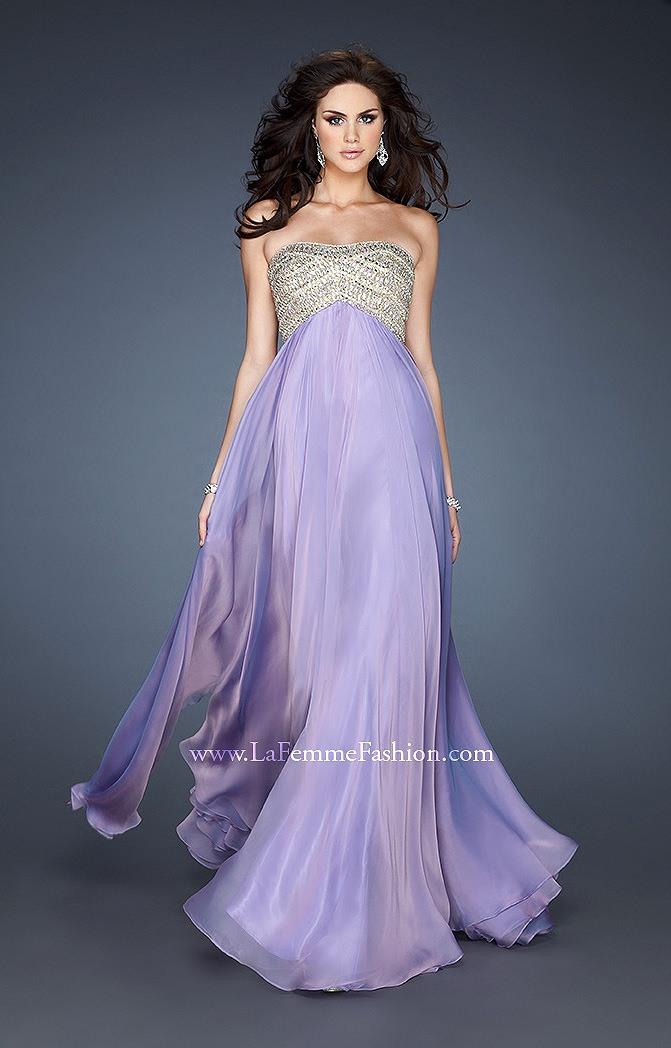 La Femme 18447 - Grecian Goddess Girl Prom Dress