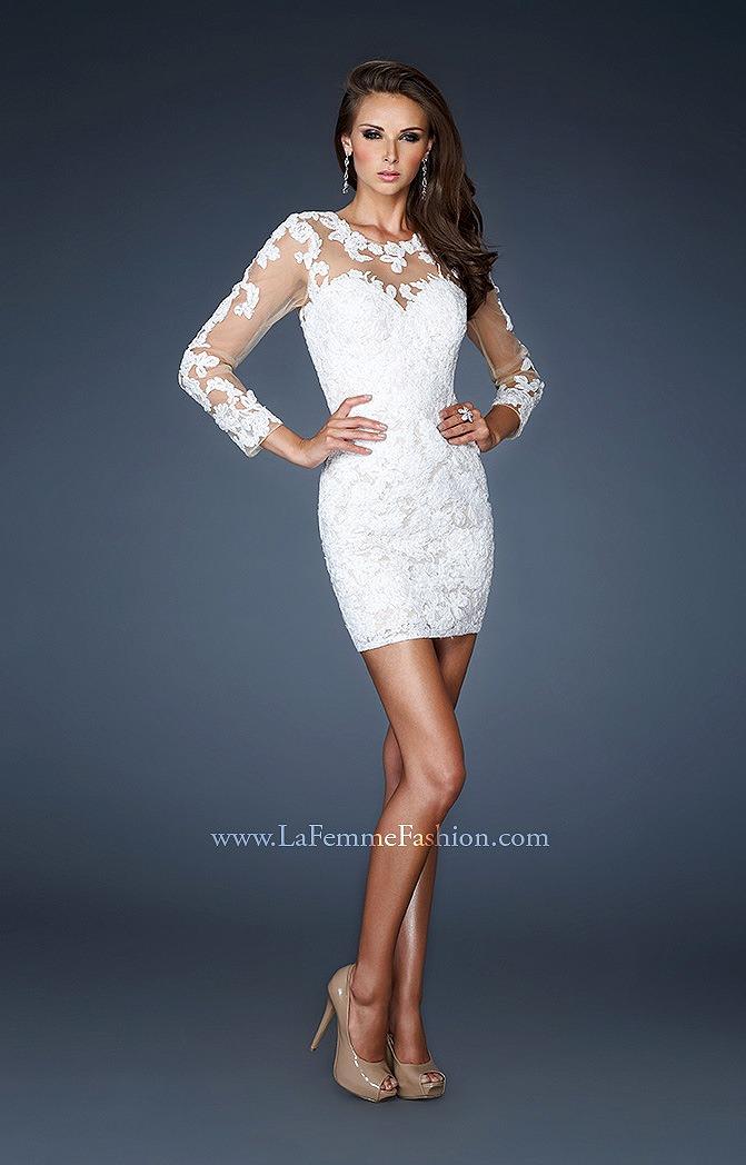Коктейльные белые платья фото 1