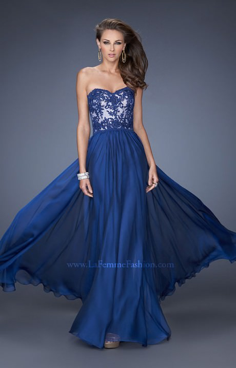 La Femme 19605 The Strapless Southern Belle Prom Dress