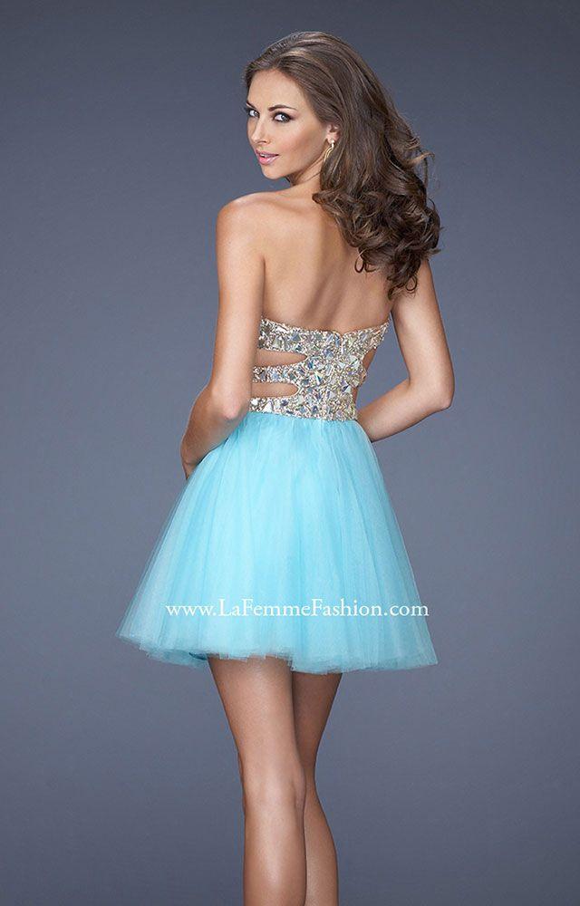 La Femme 19701 The Blue Lagoon Prom Dress