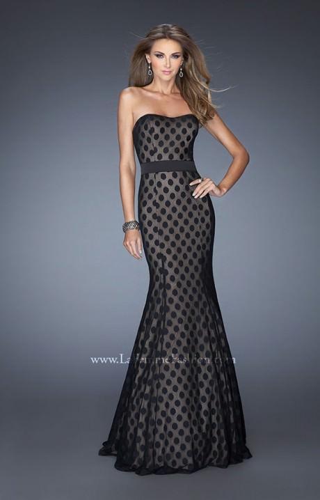 La Femme 20456 Polka Dot Charm Prom Dress