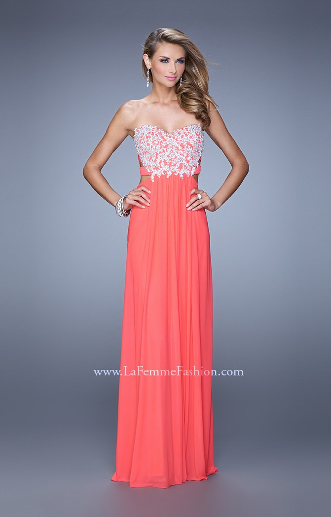 La Femme 20861 The Peek A Boo Lace Gown Prom Dress