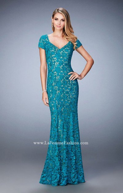 Fancy Lace Evening Gown