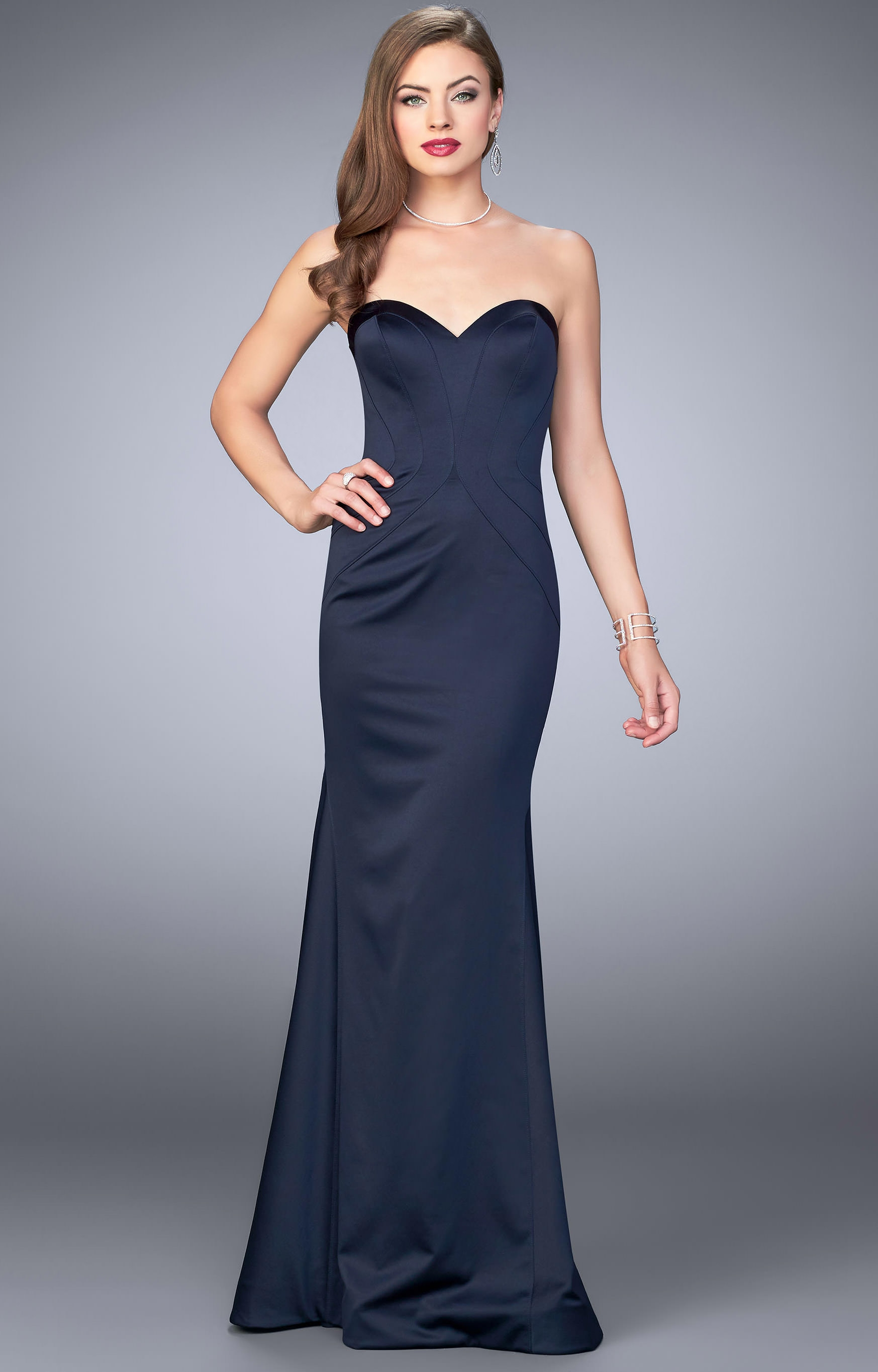 La Femme 23753 - Strapless and Sweetheart Two Piece Ball