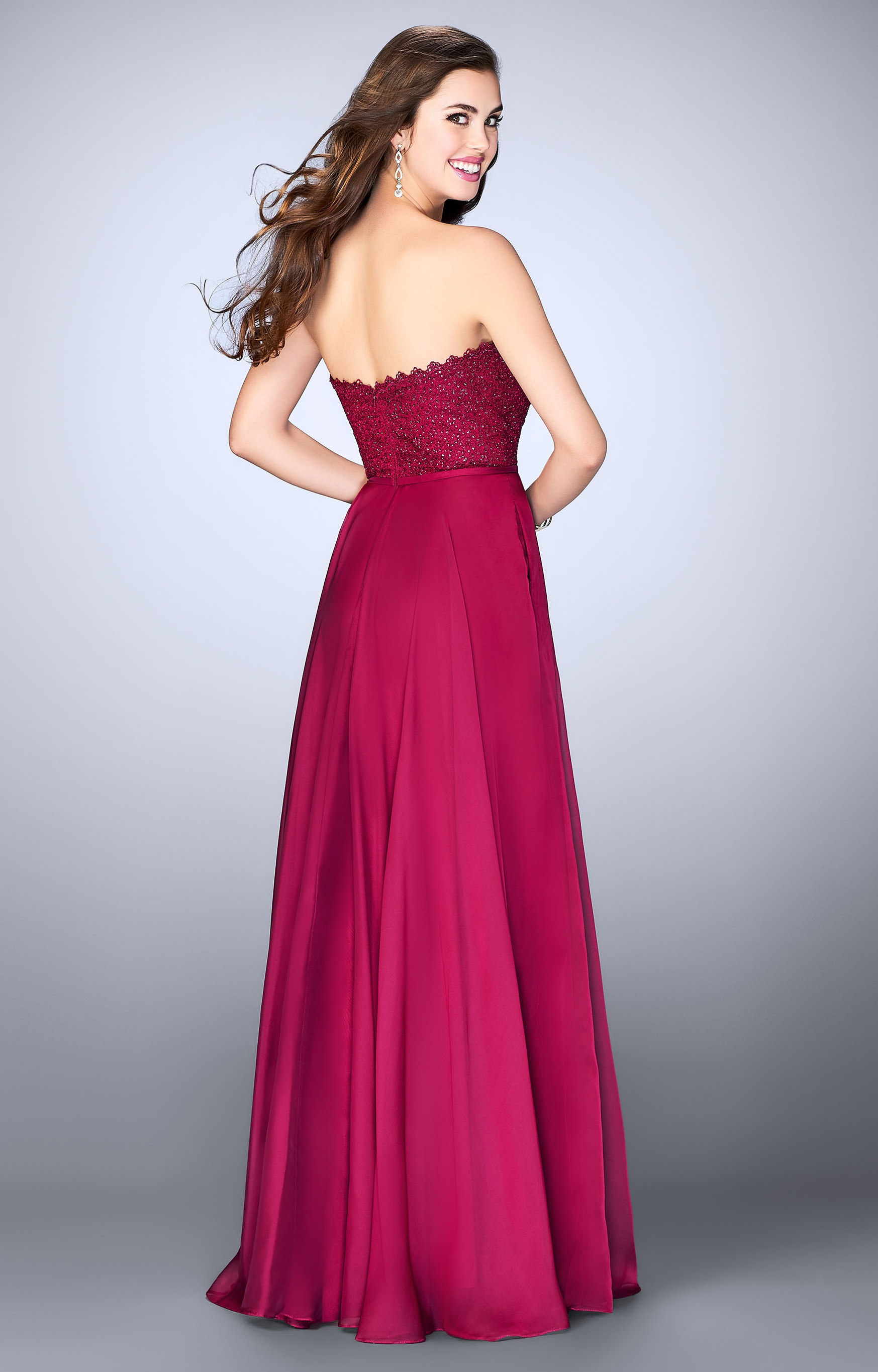 Beaded Strapless Prom Gowns, La Femme Strapless